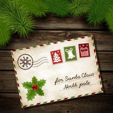 Free Letter To Santa Claus Royalty Free Stock Images - 35770499