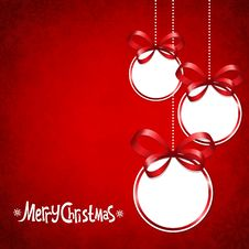 Free Red Card For Christmas Stock Images - 35770504