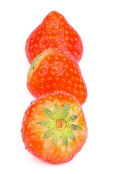 Free Three Strawberries Stock Photo - 35770590