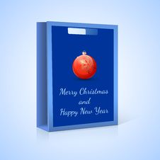 Free Shopping Bag, Christmas Royalty Free Stock Photos - 35771648