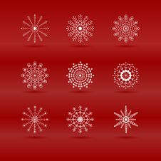 Set Of Snowflakes In Vector Royalty Free Stock Photography