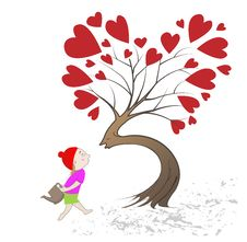 Free Girl Giving Kiss The Tree Royalty Free Stock Photos - 35772308