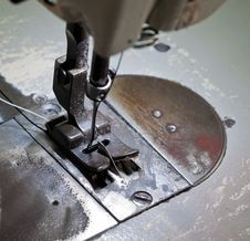 Free Footwear Stitching Machine Royalty Free Stock Photos - 35781718