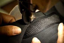 Footwear Stitching Machine Stock Photos