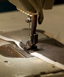 Free Footwear Stitching Machine Stock Images - 35781804