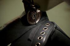Footwear Stitching Machine Royalty Free Stock Photo
