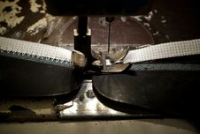 Free Footwear Stitching Machine Stock Photography - 35782062