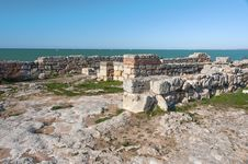 Free The Ruins Of The Ancient City Of In Chersonese Royalty Free Stock Image - 35786616