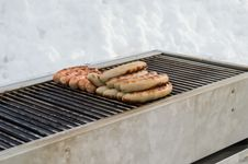 Free Grilled German Sausage Stock Images - 35787584