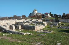The Ruins Of The Ancient City Of In Chersonese Stock Photography