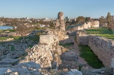 The Ruins Of The Ancient City Of In Chersonese Stock Photo