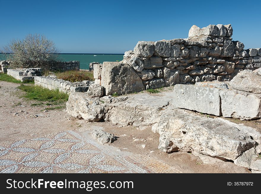 The ruins of the ancient city of in Chersonese