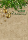 Free Vintage Christmas Card On Cardboard Background Stock Images - 35798964