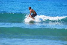 Free Playing On Small Waves Stock Photo - 35790630