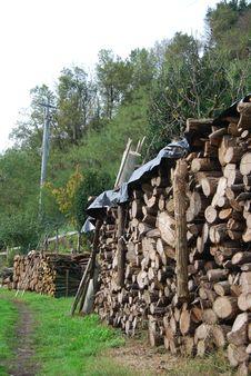 Free Wood Pile Fully Organised Royalty Free Stock Photos - 35790878