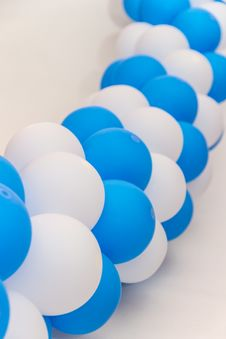 Free Inflatable Balloons Celebratory Festoon Stock Photo - 35791380