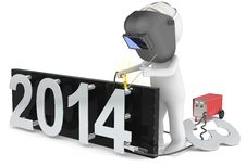 Free New Year 2014. Royalty Free Stock Image - 35793556