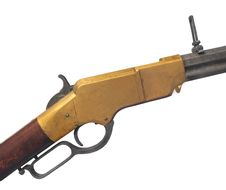 Free Vintage Henry Rifle Isolated. Royalty Free Stock Image - 35794596
