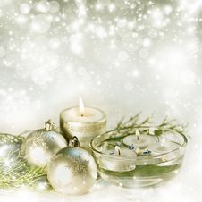 Free Abstract Christmas Decoration Stock Image - 35794991