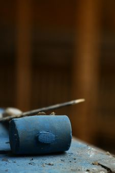 Free Blue Mallet Stock Photo - 35799860