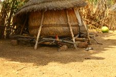 African Straw House Royalty Free Stock Photo