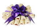 Free Sweet Cookies With Violet Bow Royalty Free Stock Image - 3580876