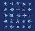 Free Set Of Winter Snowflakes Stock Photo - 3583230