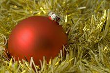 Free Christmas Background With Red Royalty Free Stock Image - 3580046