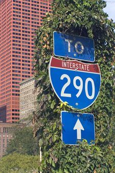 Sign Of Interstate 290 Royalty Free Stock Photo