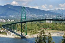 Free The Bridge And Mountains Stock Photography - 3580502