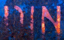 Free Letters On Rusty Surface Stock Images - 3580724