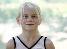 Free A Funny Blond Girl Stock Image - 3581061