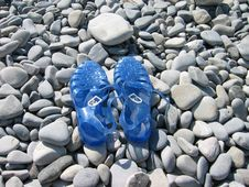Free Beach Stones And  Sandals Stock Image - 3581161