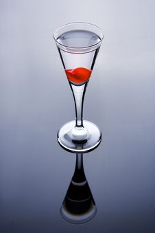 Free Shot Glass With Cherry Royalty Free Stock Image - 3581456