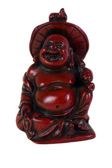Red Laughing Buddha Stock Image