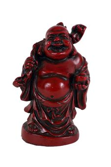 Red Laughing Buddha Royalty Free Stock Image
