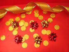 Free Red And Golden Bows Stock Photos - 3583323