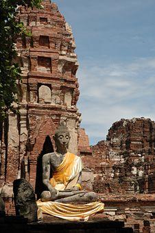 Free Ayutthaya Buddha Stock Photo - 3584060