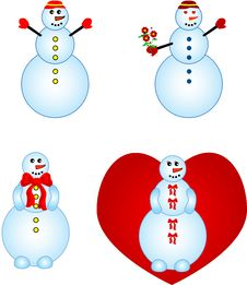 Free Funny Snowmen Stock Photography - 3584072