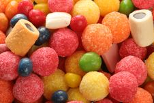 Background Made Of Sweets Royalty Free Stock Image