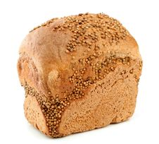Loaf Of Rye Bread On White Royalty Free Stock Image