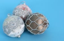 Free Ornaments On Blue Stock Images - 3584604
