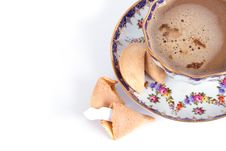 Free Cappuccino And Fortune Cookie Royalty Free Stock Photo - 3585765