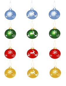 Free Christmas Baubles Royalty Free Stock Image - 3586436