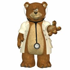 Free Doctor Bear Royalty Free Stock Images - 3586519