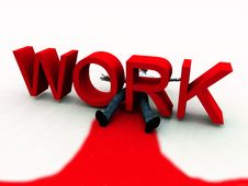 Free Work Is Murder 4 Stock Photo - 3587310