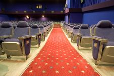 Free Empty Cinema Auditorium Stock Photography - 3587702