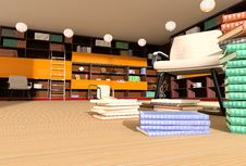 Free Modern Interior Of Library Royalty Free Stock Photography - 3587877