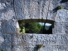 Free Stone Window Royalty Free Stock Image - 3589826