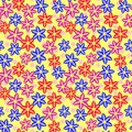 Free Multi Colored Seamless Floral Pattern Royalty Free Stock Images - 35807149